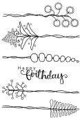 Woodware - Countryside Stems - Clear Magic Stamp Set - JGS559